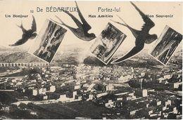 CPA -  De BEDARIEUX -Portez Lui Mes Amitiés, Un Bonjour, Mon Souvenir (carnet) - Bedarieux