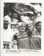 CYCLISME TOUR DE FRANCE 1969. 8 E ETAPE DIVONNE/THONON LES BAINS L'ITALIEN MICHELE DANCELLI VAINQUEUR SUR LE PODIUM - Cyclisme