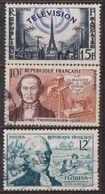 Florian, Fabuliste - FRANCE - Télévision, Tour Eiffel - Barthélémy Thimonnier - N° 1013-1021-1022 - 1955 - France