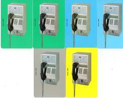 EL SALVADOR - URMET - SALNET - COMPLETE SET URMET PHONE - INCLUDING RARE GREY PHONE - ALL MINT RRR - El Salvador