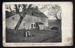 CPA ANCIENNE FRANCE- ANOULD (88)- MONTÉE DU PLAFOND- FERME DE COFIMONT EN HIVER- TRES GROS PLAN ANIMÉ - Autres Communes