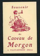 SOUVENIR DU CAVEAU DE MORGON À VILLÉ-MORGON (8X12 EN 2 VOLETS) - Cartes De Visite