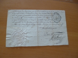 Religion 1763 Extrait Registre Baptêmes Paris Saint Sulpice + Certification Au Dos Sceau Auographe - Religion & Esotérisme