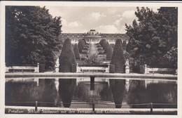 ALLEMAGNE---RARE---POTSDAM--schlob Sanssouci Mit Den Terrassen Und Goldfischteich--voir 2 Scans - Potsdam