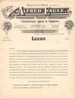 ANGLETERRE LEEDS COURRIER 192.wholesale Fruit Merchant EAGLE  Succ. PROCTOR & WOOD   A26 - Royaume-Uni