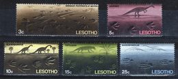 Lesotho 1970 Prehistoric Footprints Mounted Mint Set Of Five Stamps. - Lesotho (1966-...)