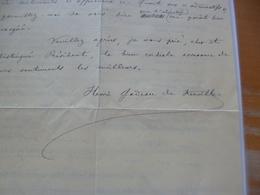 LAS Autographe H Gadeau De Kerville Botaniste 1858/1940 Rouen 1936 Vœux Décès Pierre Préteux Contribution Revue Normande - Autogramme & Autographen