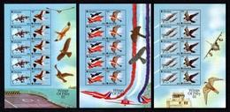 "GIBRALTAR 2001 ""Wings Of Prey"" (3rd Series)/Birds Of Prey & Modern Aircraft: Set Of 3 Sheets UM/MNH - Gibraltar"
