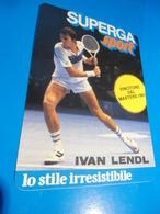 IVAN LENDL - SUPERGA SPORT - TENNIS -  STICKER  ADESIVO  AUTOCOLLANT - PUBBLICITARIO - 1981 - Pegatinas