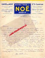 91- DRAVEIL- RARE LETTRE MANUSCRITE SIGNEE ETS. E. CHERTIER-A. DELOR- L. BOISTAY-CAVES DE NOE-APERITIF-VINS -BERCY-1947 - Alimentaire