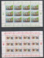 UNO Geneva 1987 Journée Des Nations Unies 2v Sheetlet ** Mnh (F6961) - Ongebruikt