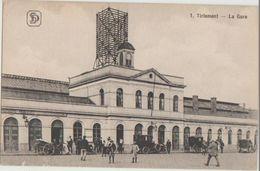 CPA BELGIQUE TIRLEMONT TIENEN La Gare Du Chemin De Fer - Tienen