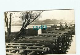 B - 49 - ANGERS - CARTE PHOTO - Inondation Au Pont De La Basse Chaine - Militaire - Génie - Angers