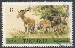Tanzania. 1980 Wildlife. 1/- Used. SG 313 - Tanzania (1964-...)