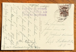 MONTAGNA  RIFUGI  CARTOLINA DA  SONNTAGBERBG  CON ANNULLI INTERESSANTI 1935 - 1879-08 Principato