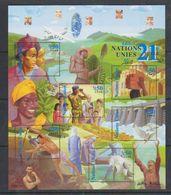 UNO Geneva 2000 Les 21e Siecle M/s ** Mnh (F6961C) - Genève - Kantoor Van De Verenigde Naties