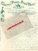 78- VERSAILLES- RARE LETTRE MANUSCRITE SIGNEE M. DOIZON- COMPTOIR PRODUITS ORIGINE REUNIS-FINE JARNAC-CHAMPAGNE-1911 - Alimentaire