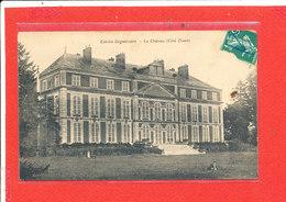 80 ESTREES DENIECOURT Cpa Animée Le Chateau Coté Ouest - Autres Communes