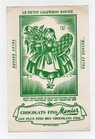 Buvard Chocolat Ménier Chocolats Fins Le Petit Chaperon Rouge Conte De Perrault - Cocoa & Chocolat