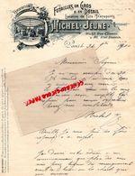 75- PARIS- RARE LETTRE MANUSCRITE SIGNEE MICHEL JEUNE-FUTAILLES -FUTS-21 RUE CLISSON-36 RUE DUNOIS-1890 - 1800 – 1899