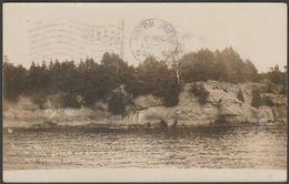 Rock Strata On Grand Isle, Lake Champlain, Vermont, 1909 - J S Wooley RPPC - United States