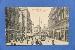 Cartolina Spagna - Valencia - Calle De Las Barcas - 1915 Ca. - Unclassified
