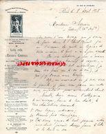 75- PARIS- RARE LETTRE MANUSCRITE SIGNEE IMPRIMERIE GIRONDE-LIVRE D' OR ENTENTE CORDIALE-EMILE LOUBET-101 RUE RICHELIEU- - Imprimerie & Papeterie