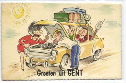 1 Postkaart Gent Groeten Uit - Gent