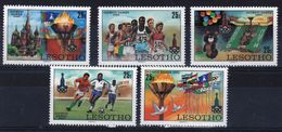 Lesotho 1980 Olympic Games Moscow Unmounted Mint Set Of Five Stamps. - Lesotho (1966-...)