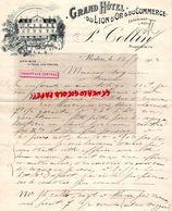 35- REDON- RARE LETTRE MANUSCRITE SIGNEE -GRAND HOTEL DU LION D' OR ET COMMERCE- P. COLLIN- 1912 OMNIBUS - Petits Métiers