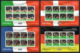 GIBRALTAR 2004 European Football Championships 2004: Set Of 4 Sheets UM/MNH - Gibraltar