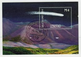 Lesotho 1986 Appearance Of Halley's Comet Fine Used Mini Sheet. - Lesotho (1966-...)