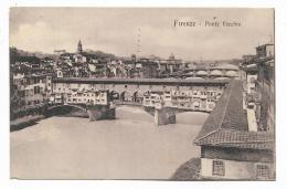 FIRENZE - PONTE VECCHIO 1913 VIAGGIATA FP - Firenze