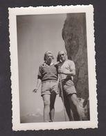 26443 Photo Couple Femme Homme Montagne Montagnard Escalade -sans Doute Vers 1930 - Personnes Anonymes