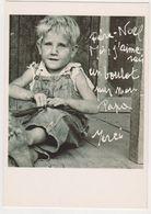 26444 CP Photo Enfant -pere Noel Boulot Papa Merci - Ed Boomerang Support Art Seven - Crise 1929 Usa ? - Portraits