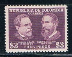Colombia 569 MNH Miguel Caro (C0088) - Colombia
