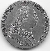 Grande Bretagne - Angleterre - George III - Six Pence - Argent - TTB - 1662-1816 : Anciennes Frappes Fin XVII° - Début XIX° S.