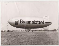 Photo 18x24 Cm AVION - AVIATION - ZEPPELIN BRAUN SIXTANT - Dirigeable Ballon - ! état ! - Aviation