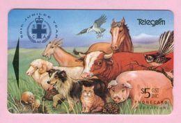 New Zealand - 1994 SPCA 60th Jubilee - $5 Animals - NZ-F-12 - VFU - New Zealand