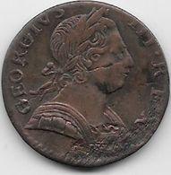 Grande Bretagne - Angleterre - George III - Cuivre - 1775 - 1662-1816 : Anciennes Frappes Fin XVII° - Début XIX° S.
