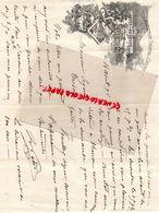 31- LUCHON- RARE LETTRE MANUSCRITE SIGNEE -ETS. THERMAL CASINO- 1896 - 1800 – 1899