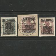 Saargebiet. Saargebiet Auf Germania, Nr. 50 - 52 Gestempelt Auf Briefstück - Used Stamps