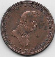 Grande Bretagne - Médaille Robert Warren - Cuivre - 1662-1816 : Anciennes Frappes Fin XVII° - Début XIX° S.