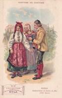Histoire Du Costume Suede Dalecarliens En Habit De Fetes XIX Eme Siecle Col Musculosine Byla Anemie Viande De Boeuf - Trade Cards