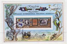 Lesotho 1984 International Stamp Exhibition Fine Used Mini Sheet. - Lesotho (1966-...)