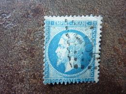 1862 Napoléon III  20c Bleu Y&T= 22 Oblitéré - 1862 Napoleone III
