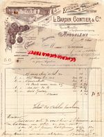 16 - ANGOULEME -COGNAC- RARE LETTRE MANUSCRITE SIGNEE L. BARDIN GONTIER-EPICERIE DROGUERIE-RUE BOISSIERES -1902 - 1800 – 1899