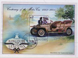 Lesotho 1985 Century Of Motoring Fine Used Mini Sheet. - Lesotho (1966-...)