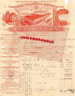 16- FONTAFIE- RARE FACTURE PERRUSSON- GRANDES TULERIES MECANIQUES-TUILERIE- 1901 - Petits Métiers