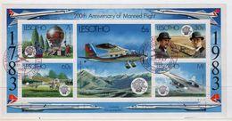 Lesotho 1983 Anniversary Of Manned Flight Fine Used Mini Sheet. - Lesotho (1966-...)